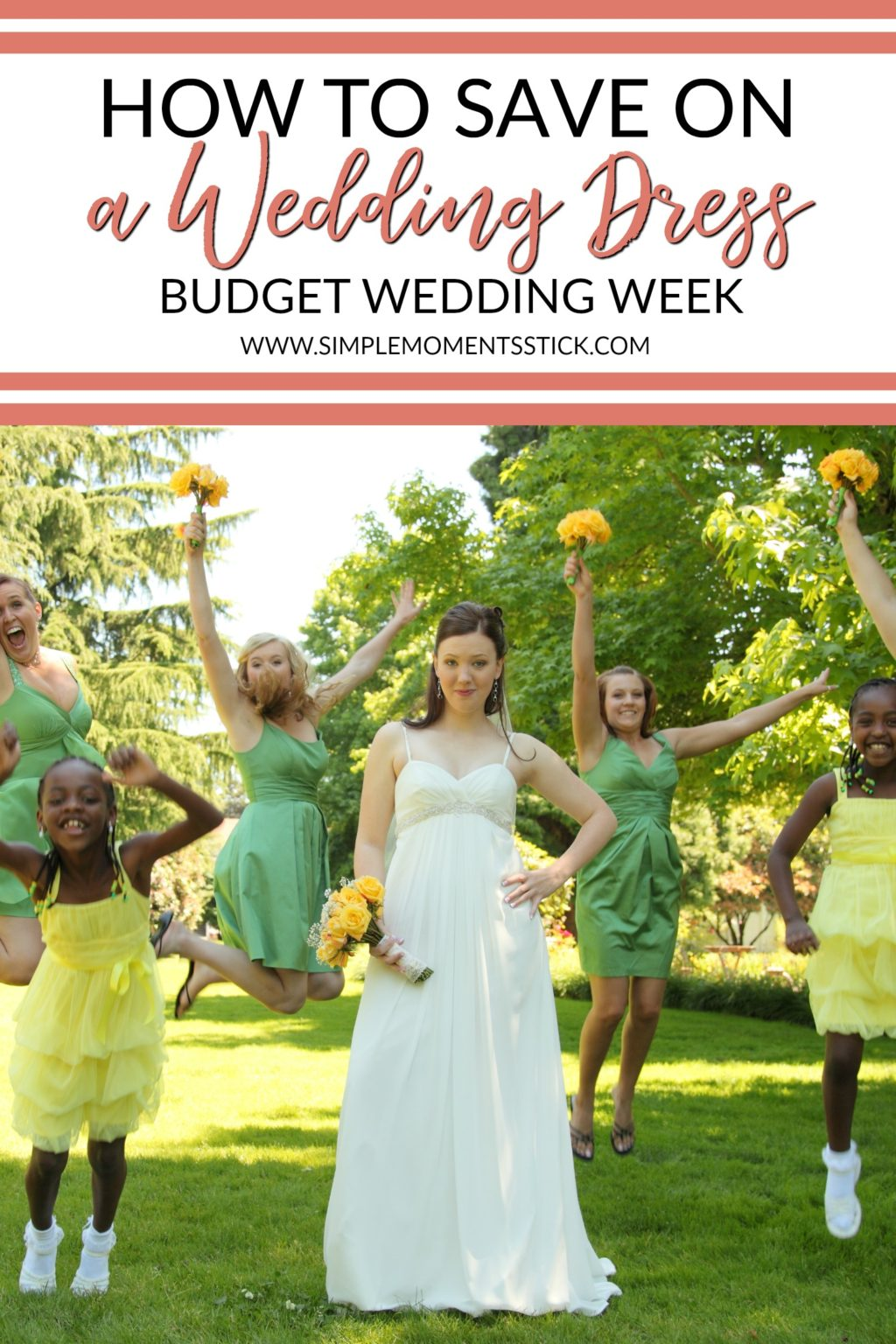 If you need to know how to save on a wedding dress, this post is for you! #wedding #budgetwedding #weddingdress #budgetweddingdress #weddingsaving