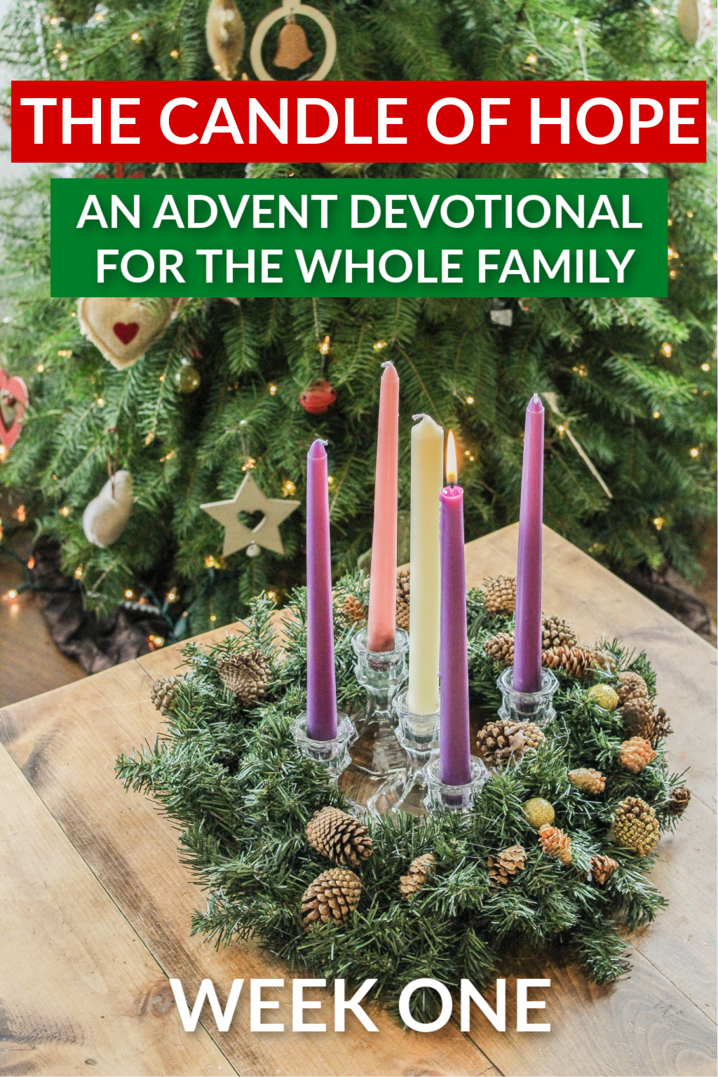 advent devotional week one. the candle of hope
