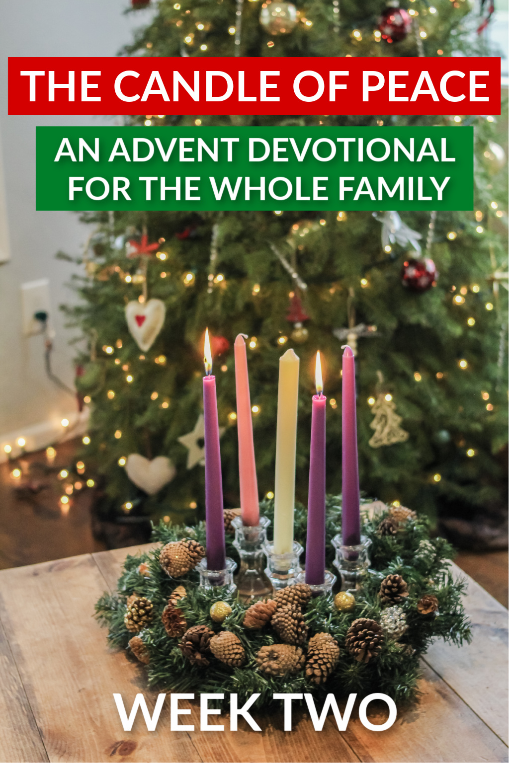 candle of peace.  christmas advent devotional