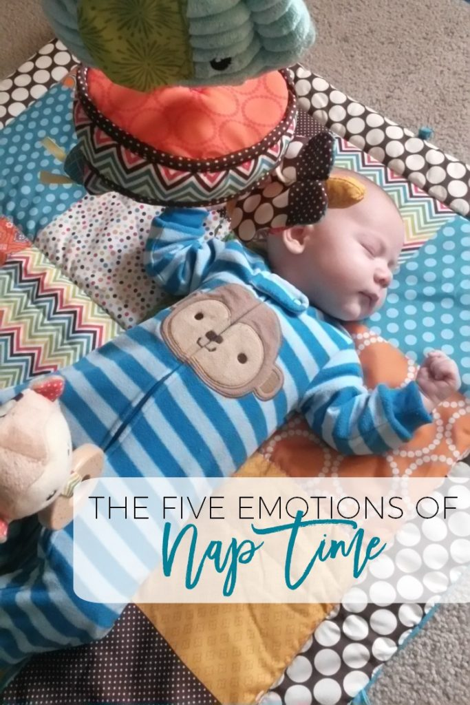 The four month sleep regression is real, folks, and it causes all sorts of nap time emotions!  What emotions do you go through during your baby's nap time?