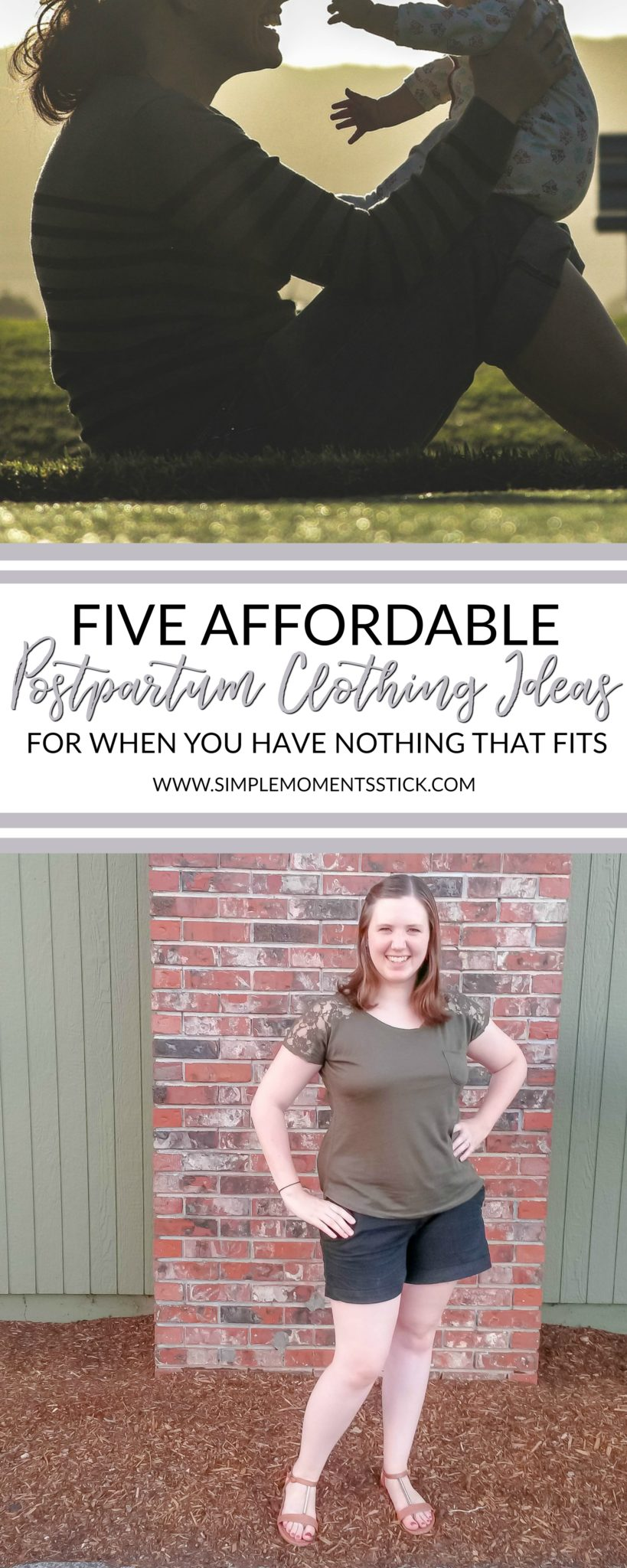 Nothing to wear???  You're going to want these postpartum clothing ideas and tips!