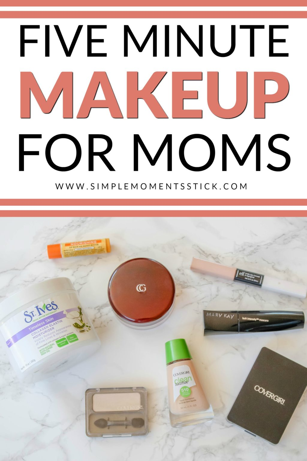 Check out this fantastic quick makeup for everyday. Every mom needs a five minute makeup