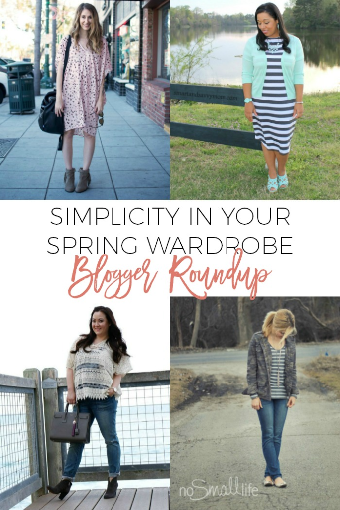 Looking to incorporate simplicity into your spring wardrobe? Click over to find out what some awesome bloggers have to say about that subject!