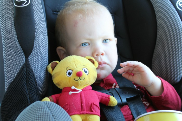 What do you need to make sure you have on hand while road tripping with a toddler?