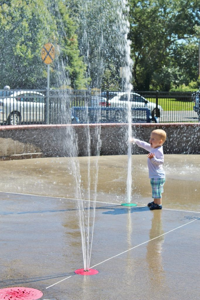 We're trying our best to get out into the sunshine this summer!  Click through to find out why the Splash Pad is the place to go!