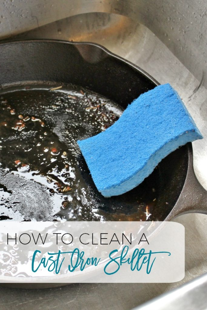 How to clean cast iron skillets.  It's really not that hard!