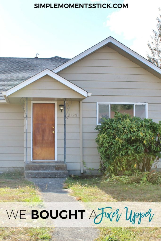 We bought a fixer upper!  Click through to find out what we're doing with it!