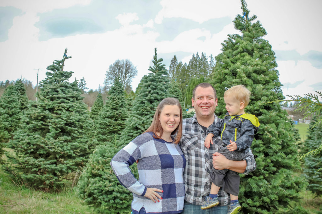 Finding a Christmas tree with the family