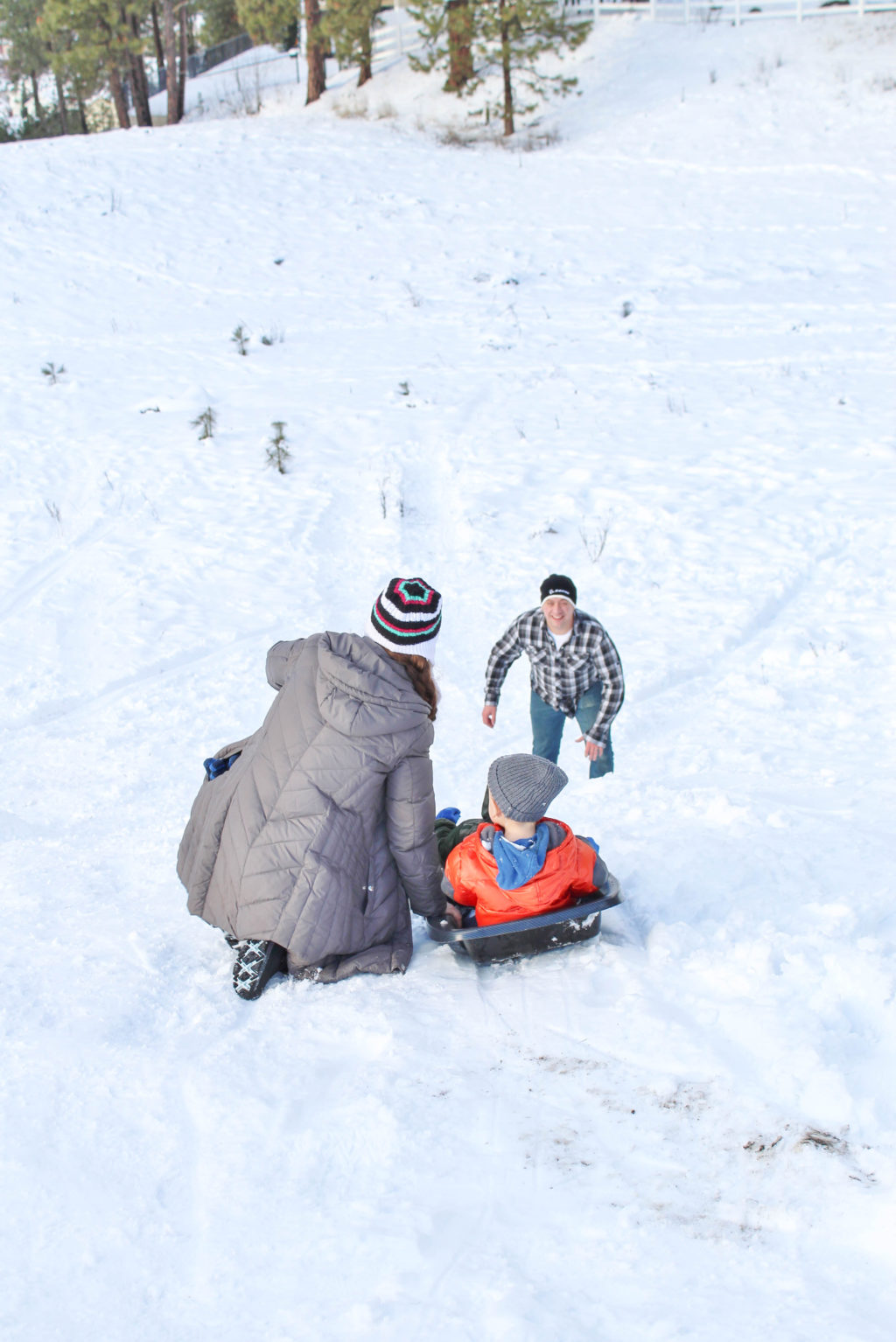 The thought of sledding with toddlers can be tough but, when you get out there, it can be so much fun! Encouragement to get out with your toddler and enjoy!