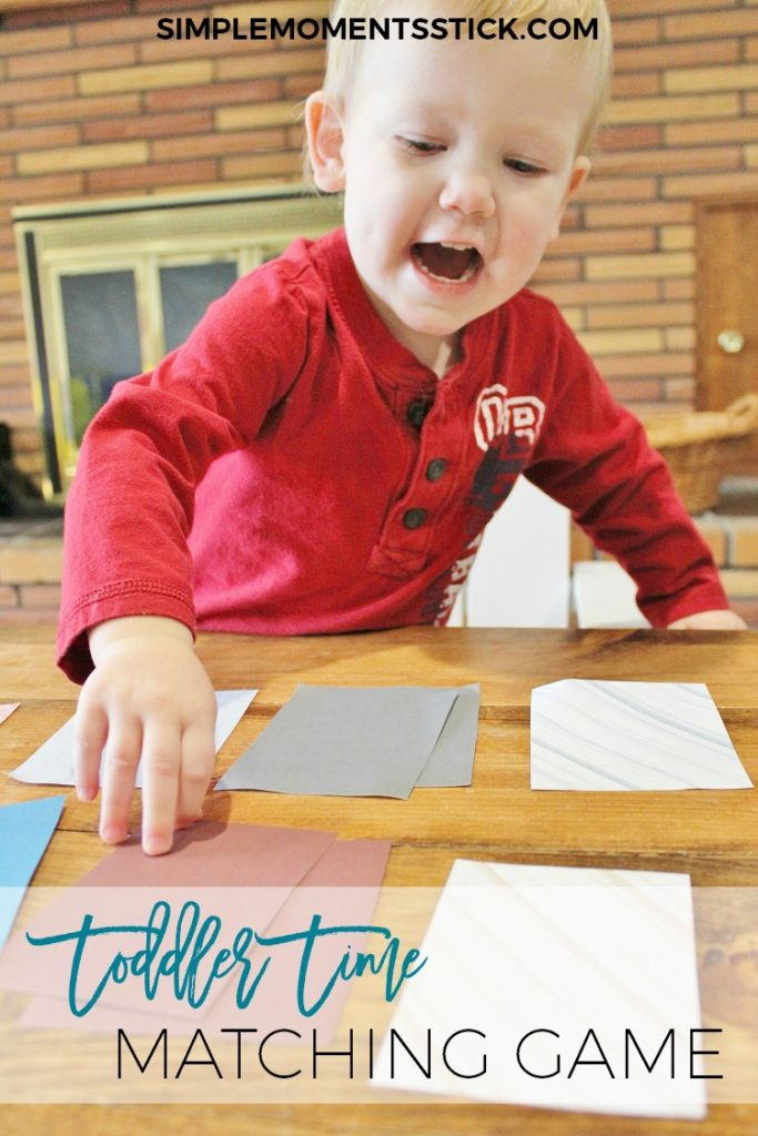 The perfect and *simple* matching game for a toddler
