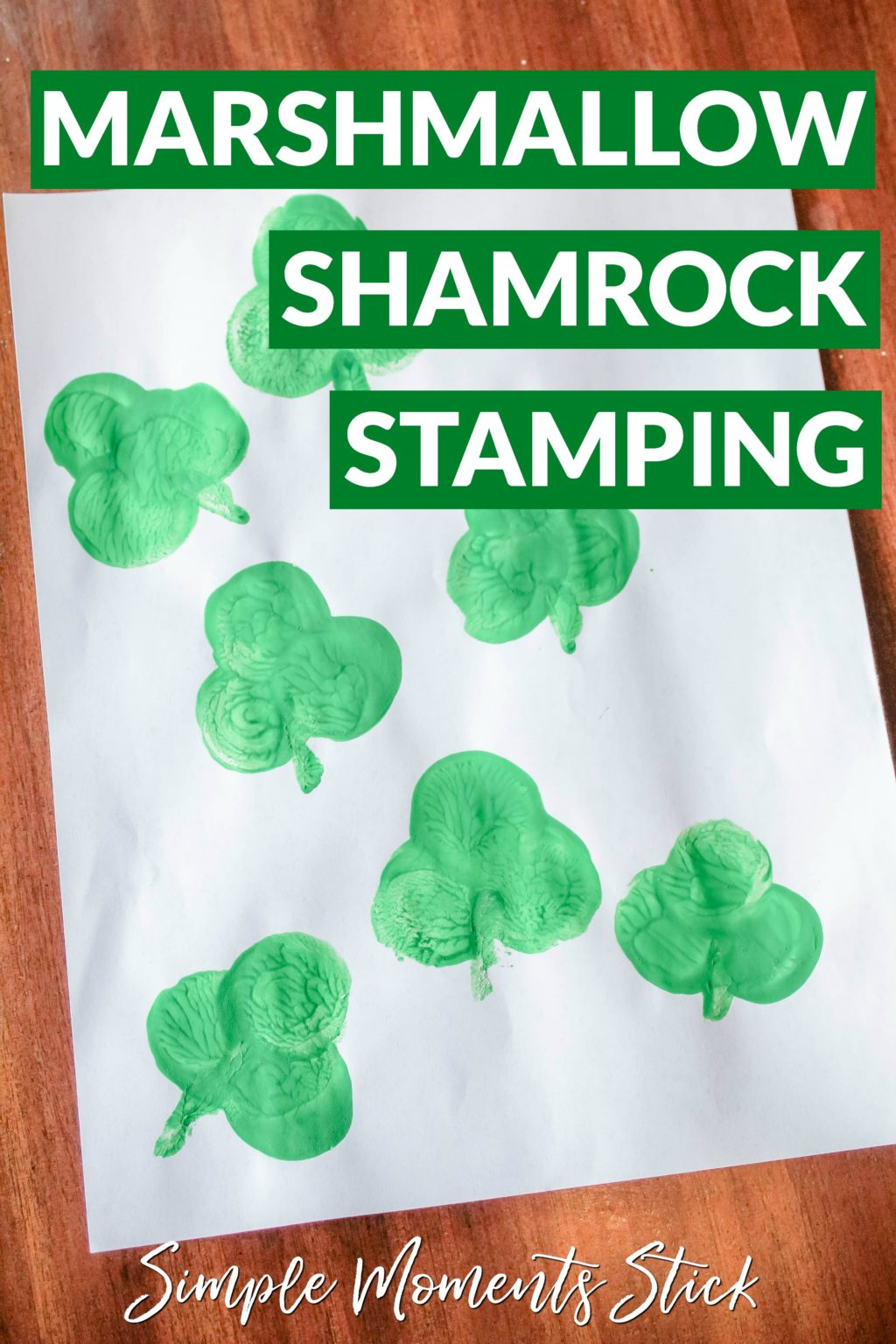 There are tons of St. Patrick's Day ideas out there so how do you find a St. Patrick's Day craft for toddlers? You have to try this marshmallow shamrock stamping!