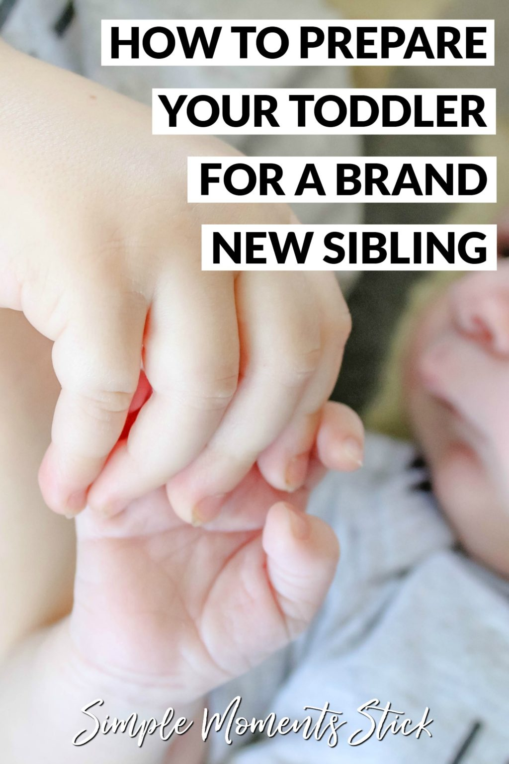 How to prepare your toddler for a sibling