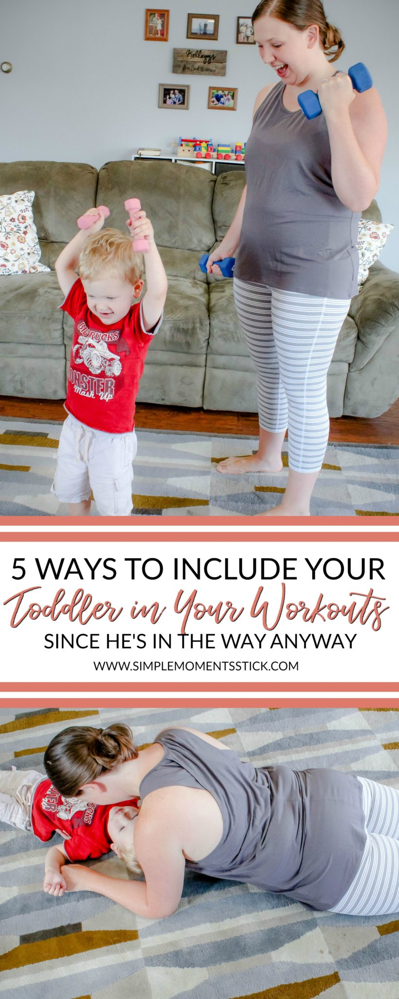 Wondering how to workout with a toddler at home?  I have a few good tips!