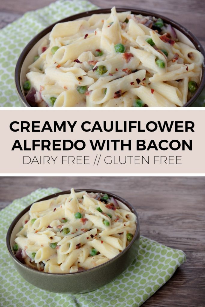 You'll never guess that this creamy cauliflower alfredo is dairy free!
