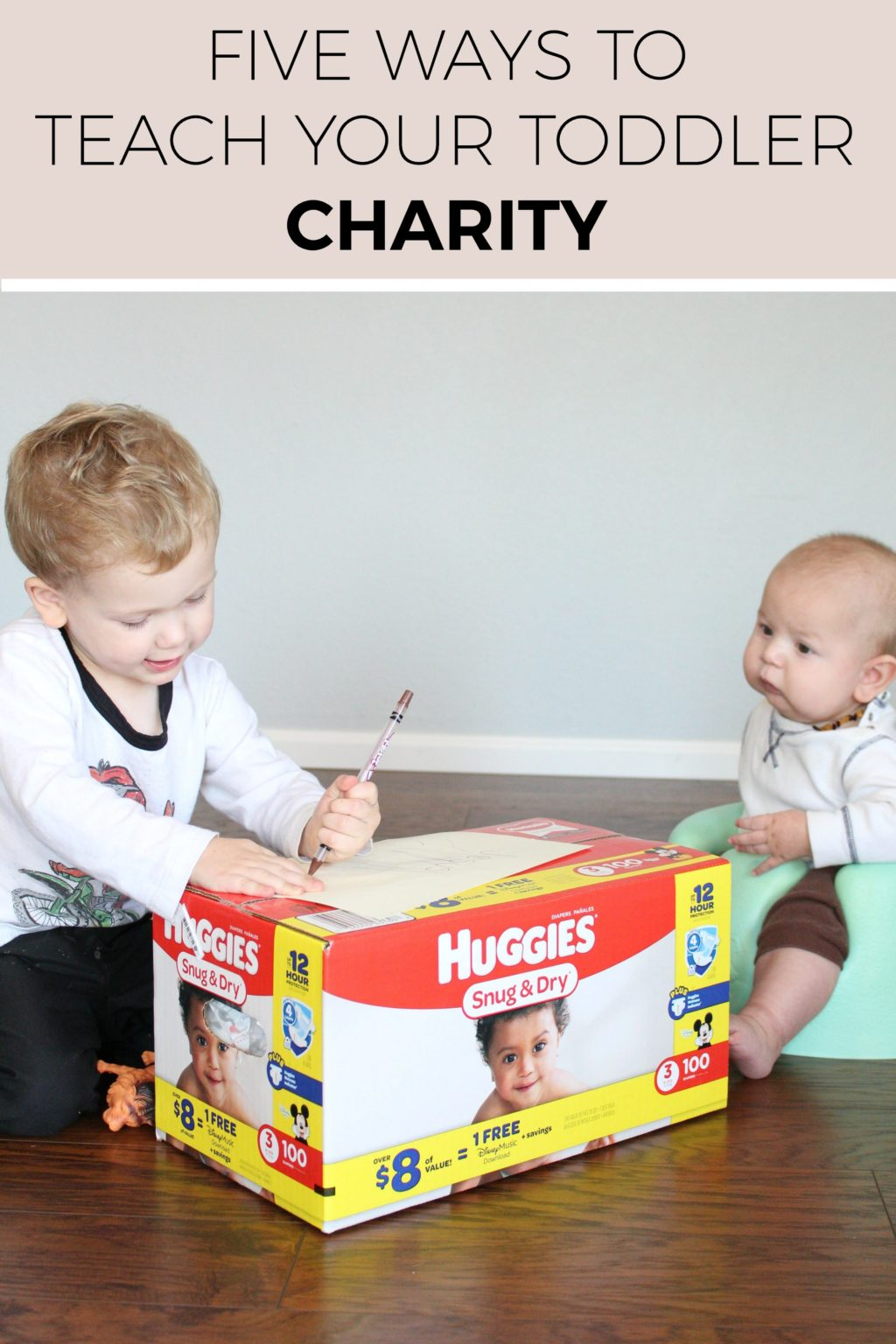 #ad Teaching your toddler about charity is HARD but totally worth it! Thankfully, @Huggies and @KrogerCo have teamed up in an awesome way to help us mamas teach our kids! Click through to learn more! #DiaperNeed