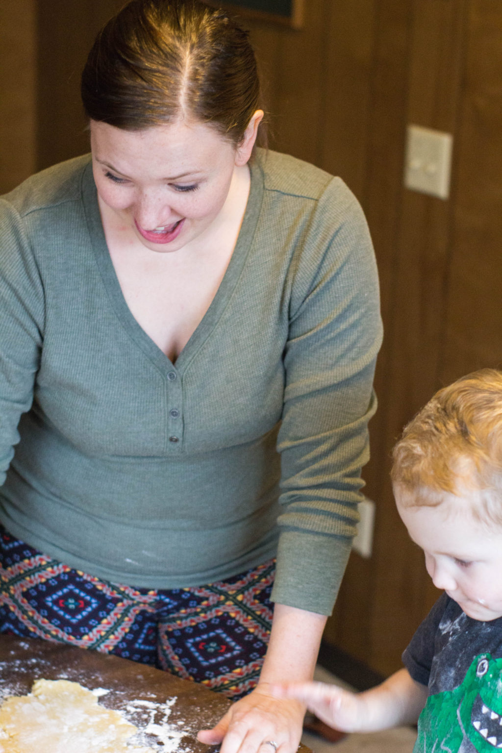 Teach your toddler how to back while teaching about caring for our neighbors.