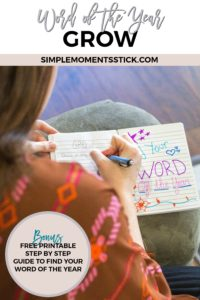 Do you ever wonder how to go about figuring out a word of the year? Check out this free printable step by step guide to discover your word of the year!