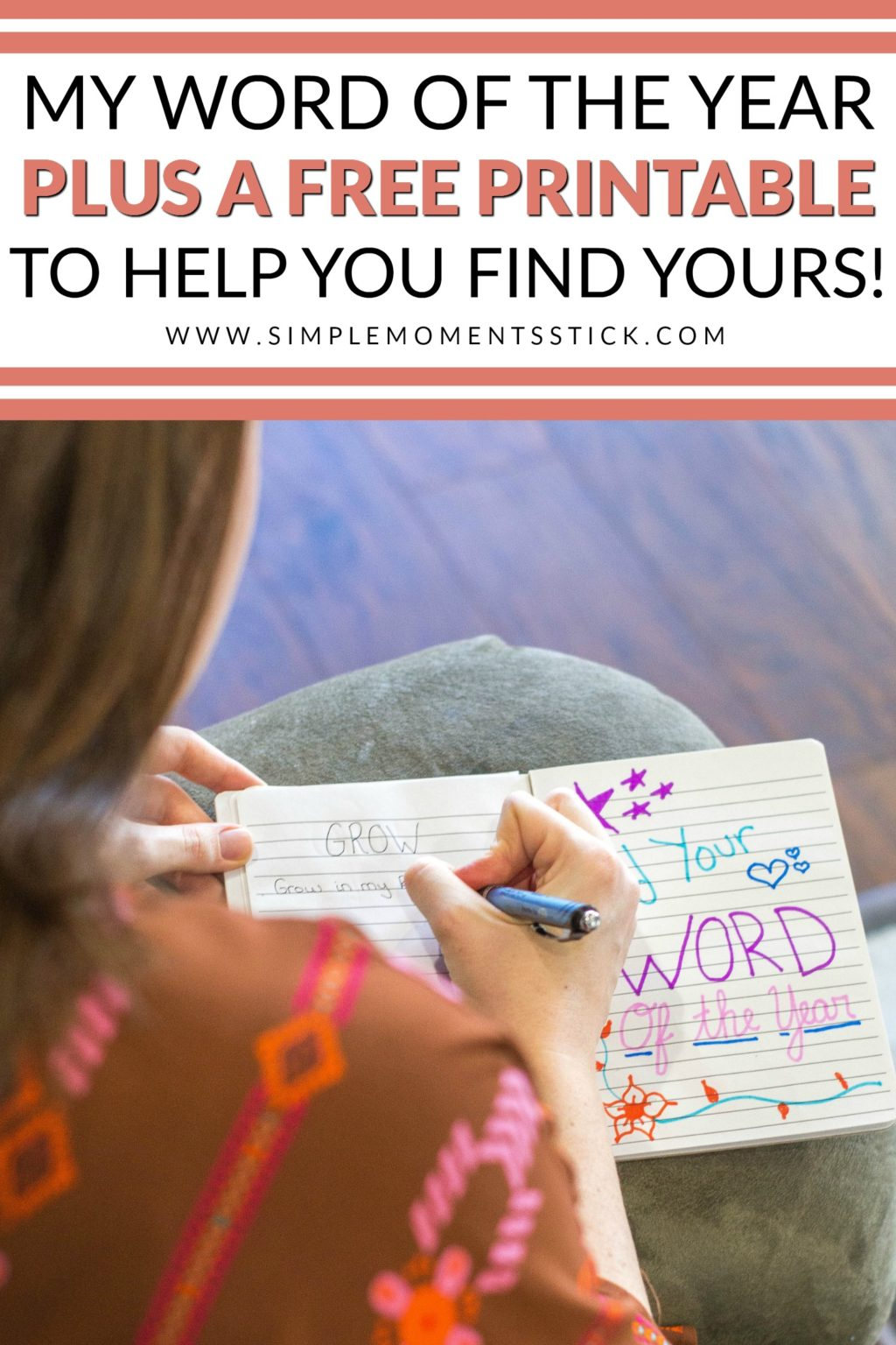Do you ever wonder how to choose your word of the year? Check out this free printable step by step guide to discover your word of the year!