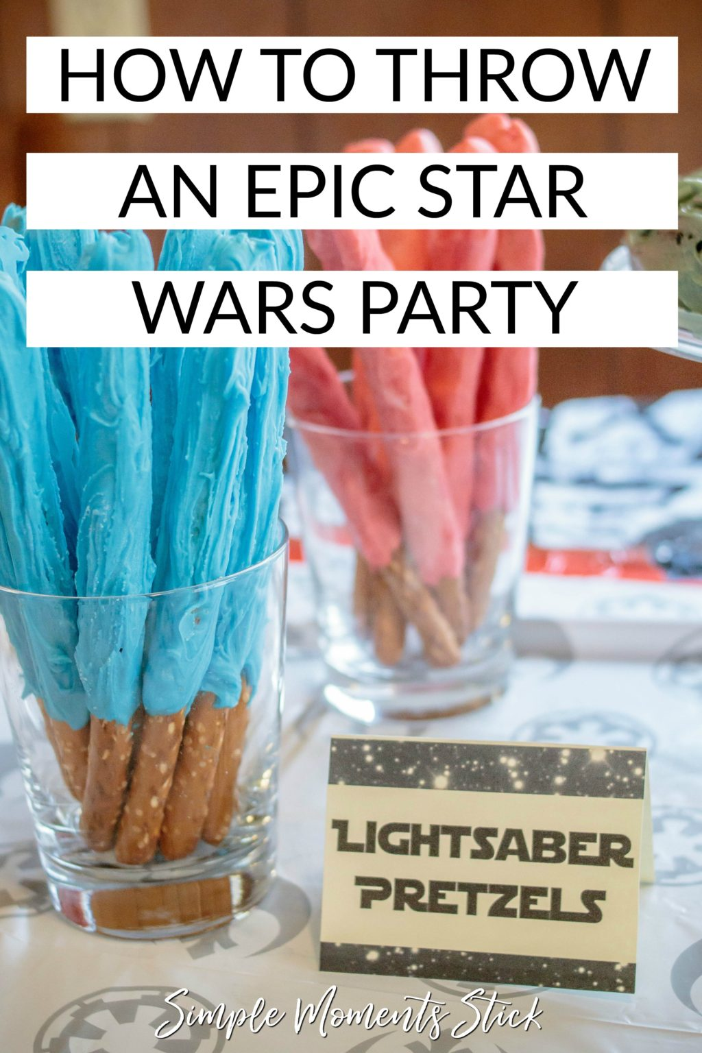 Plan the perfect Star Wars party for your little one! #starwars #birthdayparty #starwarsparty #theforce #maytheforcebewithyou