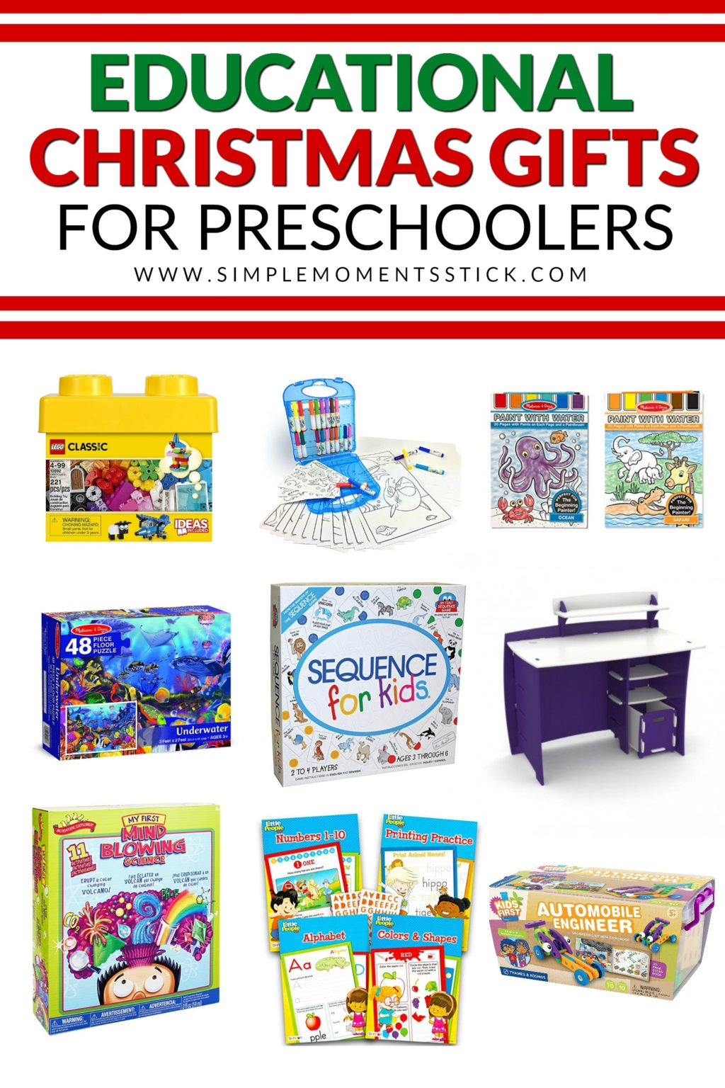 The very best educational christmas gifts for preschoolers! You're going to want to check out this post if you're shopping for a four or five year old!
