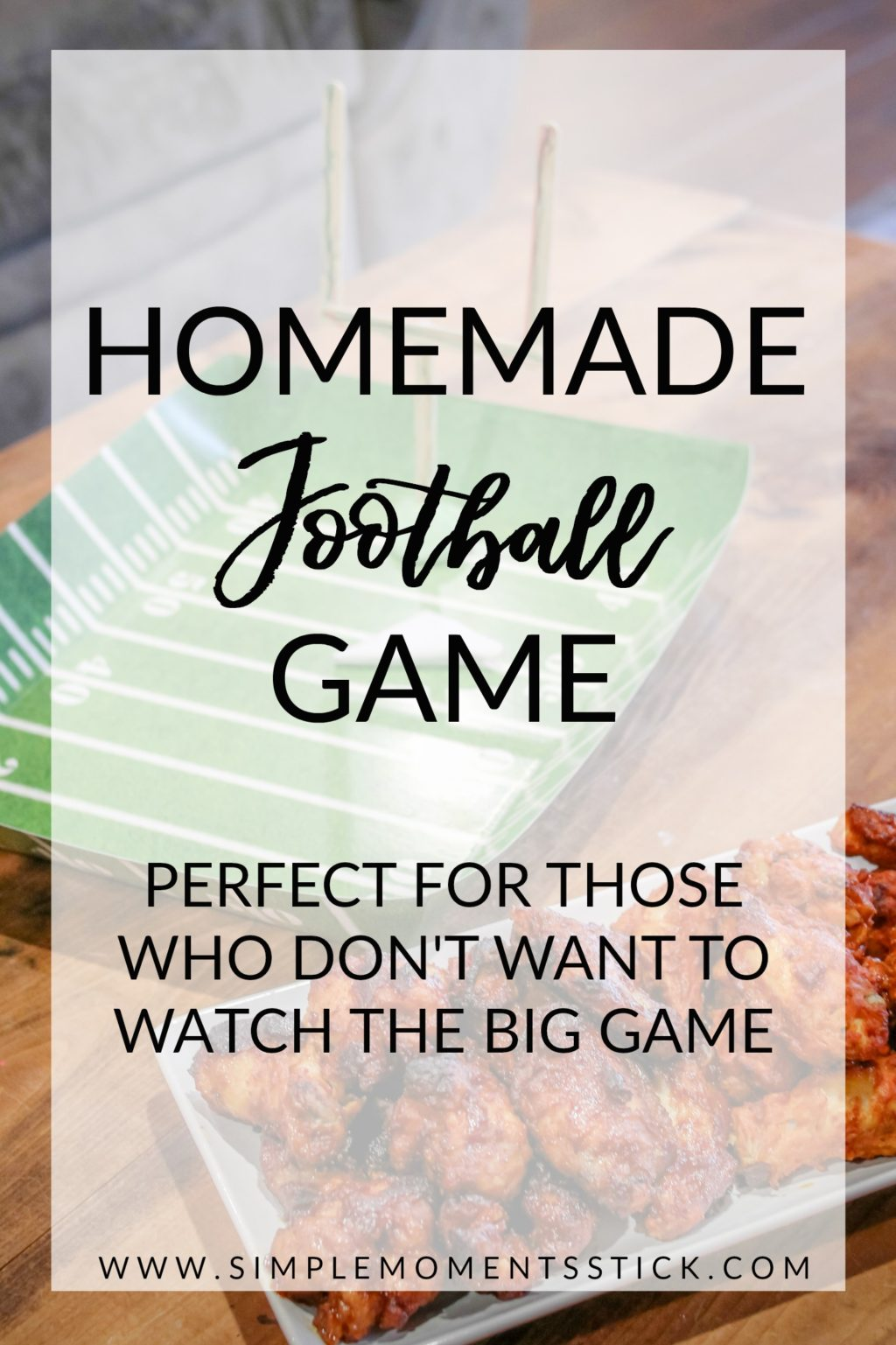 #ad Looking for how to make a football game at home? This is the perfect football craft for preschoolers and you end up with an amazingly fun homemade football game.