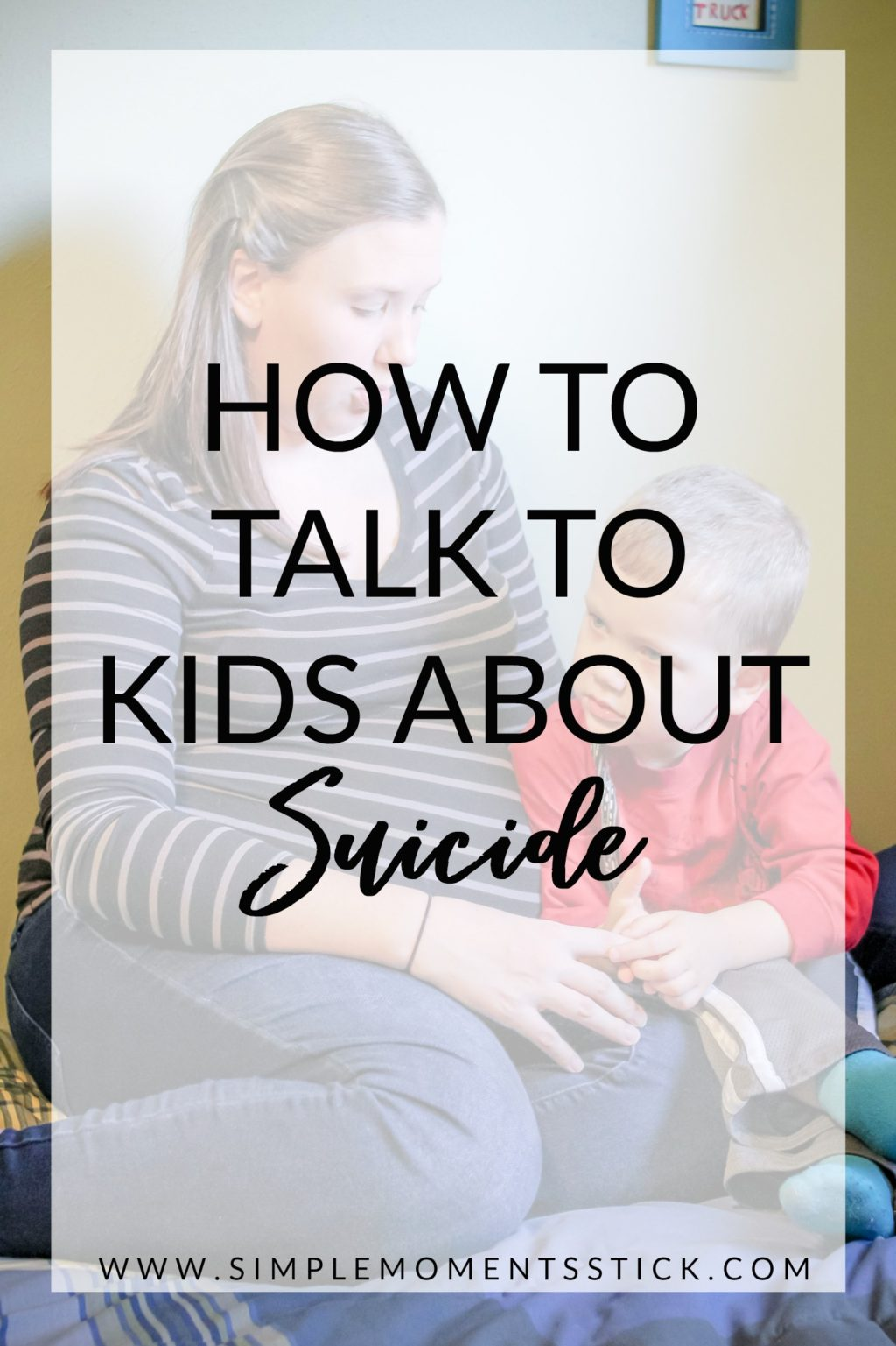 How to talk to kids about suicide from a Christian perspective.