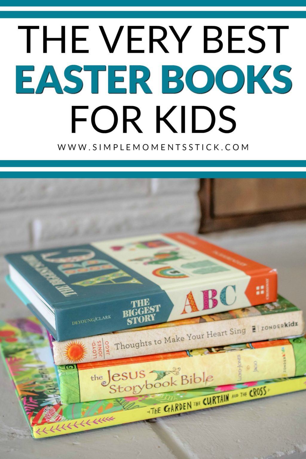 Fill your kids' Easter baskets with books! This post will fill you in on some of the best Easter books for kids that talk about the Resurrection!