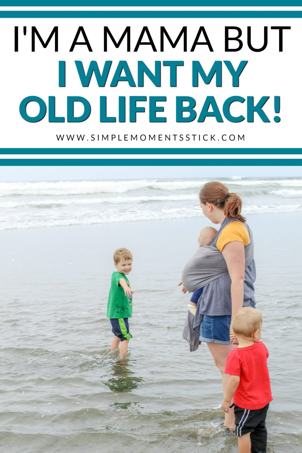 Some days I find that I want my old life back.  I miss my pre baby life.  I could let the guilt over that feeling overwhelm me or I can do this...
