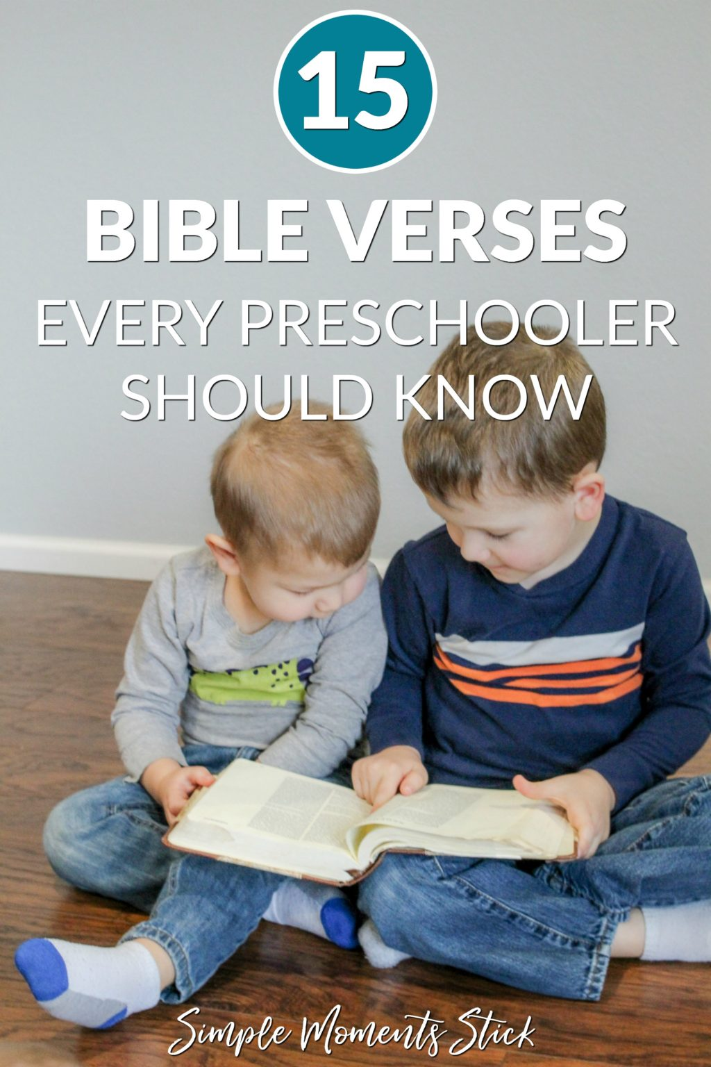 Memory verses for preschoolers. Boys reading the Bible. Bible verses for preschoolers