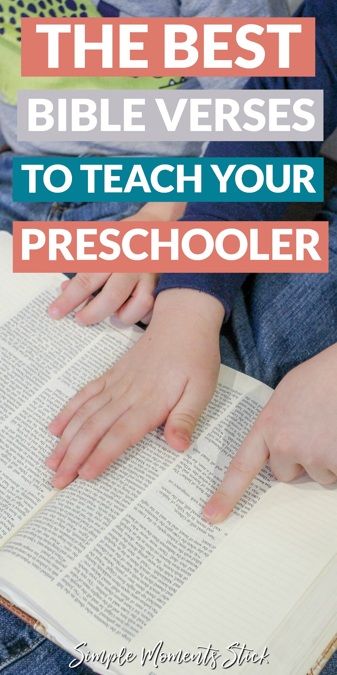 Bible verses to teach preschoolers. Children reading the Bible. Bible verses for kids