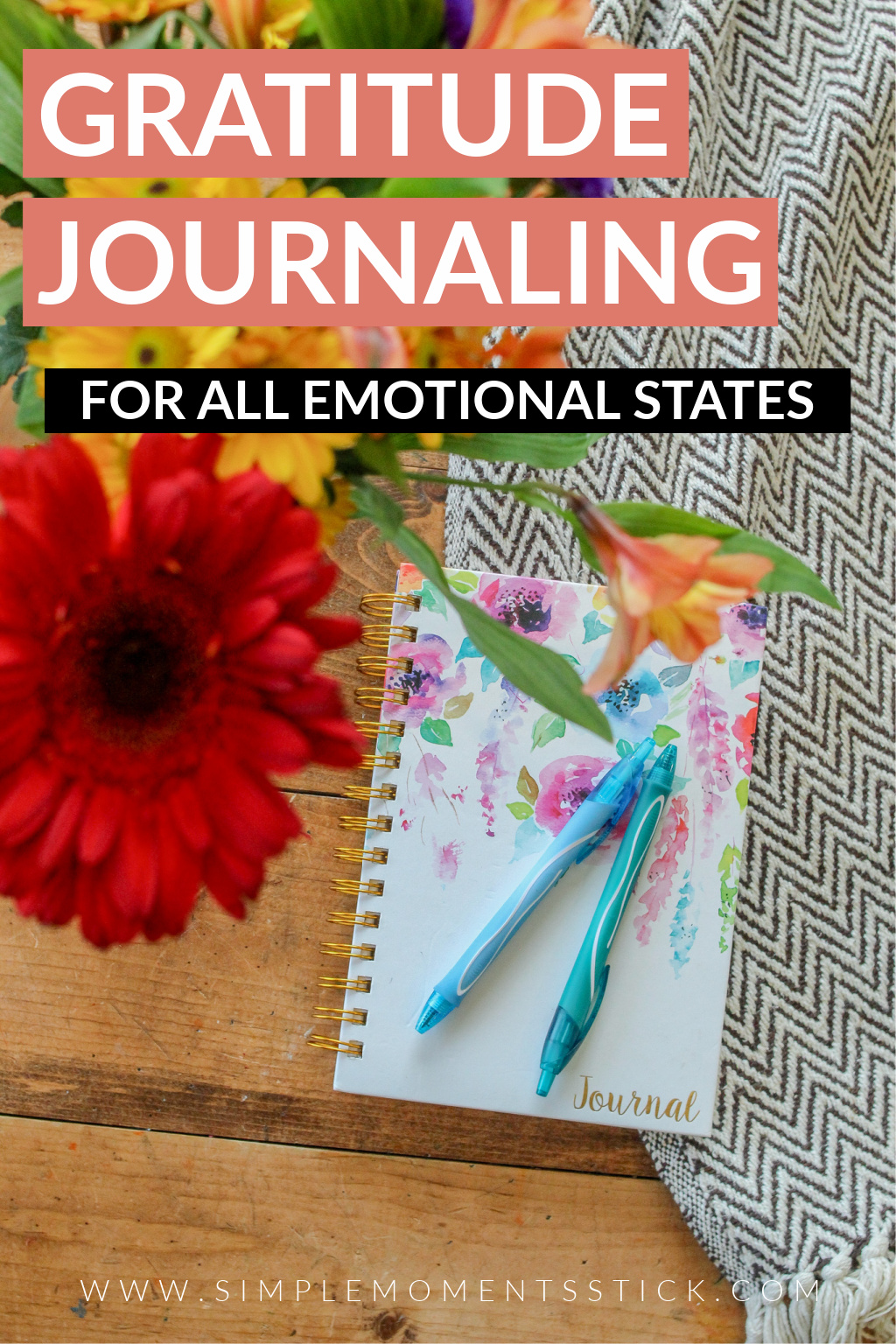 gratitude journaling for all emotional states