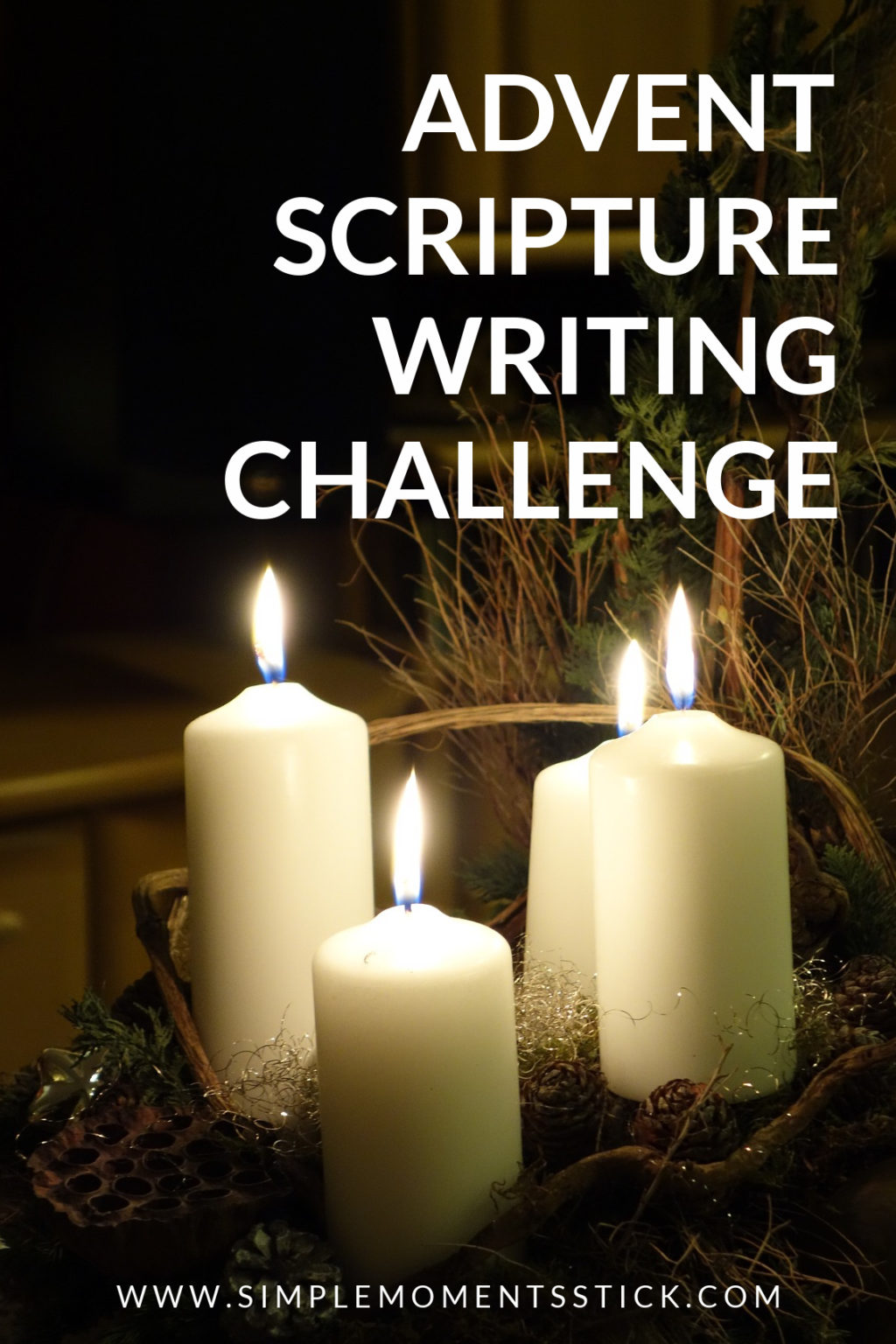 advent scripture writing challenge